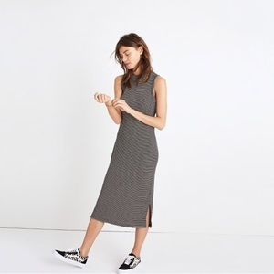 NWOT MADEWELL Mock Neck Stripe Dress